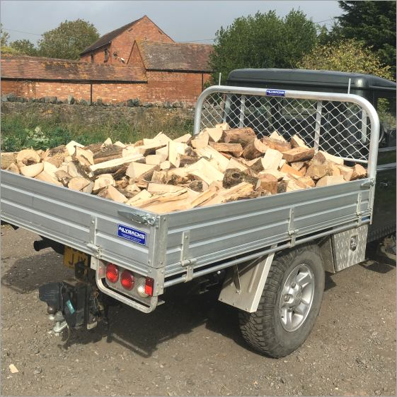 Air-dried loose log loads