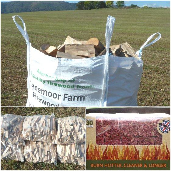 Kiln-dried bulk log package